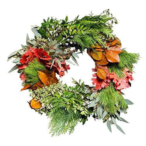 Celebrate Fall Wreath | Fresh Holiday Wreath | Fresh Foliage Wreath | Live Foliage Wreath |Fresh Wedding Wreath | Fresh Christmas Wreath -