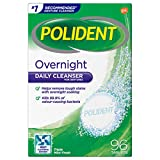 Polident Overnight Daily Denture Cleanser Triple Mint Fresh 96 tabs