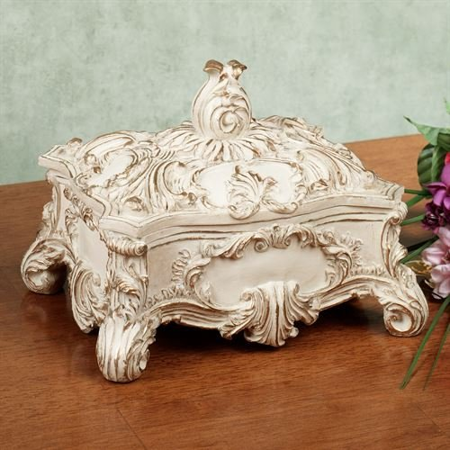 Touch of Class Josephine Covered Box Light Cream