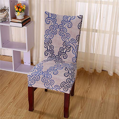 Drew Toby Chair Covers Floral Printing Spandex Wedding Dining Room Office Banquet Stretch Elastic Slipcover (Leopard Chair Room Covers Dining)