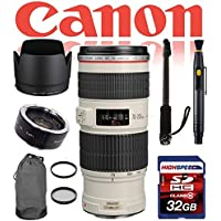 Canon EF 70-200mm f/2.8L IS II USM Telephoto Zoom Lens 2751B002 Deluxe Bundle- International Version (No Warranty)