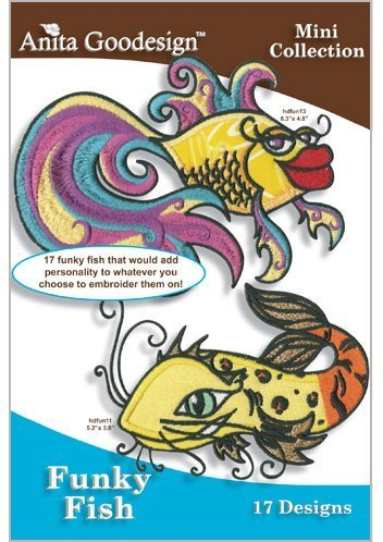 Anita Goodesign Embroidery Machine Designs CD FUNKY (Funky Embroidery Designs)