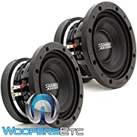 Pair of Sundown Audio SD-3 8 D4 8 300W RMS Dual 4-Ohm SD Subwoofer