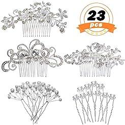 REVEW 23 PCS Wedding Hair Comb Bridal Ha...