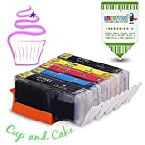 INKUTEN 5 Pack Edible Ink Cartridge Replacement for PGI 270 XL CLI 271 XL (1 Big BK, 1 BK, 1 C, 1 M, 1 Y) Compatible with MG7720 MG6820 MG6821 MG682 MG5720 MG5722 MG5721 TS6020 TS5020