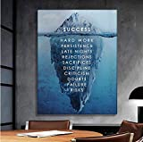 1 Piece Framed Success & Motivating Canvas Prints - 1 Piece Achieving Dream Secret Artwork Canvas Painting on Wall Art for Office and Home Wall Decor (45x60cm (18x24inch))