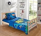 Fancy Collection Toddler Comforter Set Dinosaur Navy Blue White Red Blue Orange Yellow Beige New