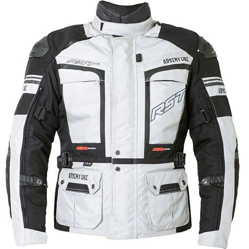 - RST Pro Ser 2850 Adventure III Ce Motorcycle Textile Jacket Silver