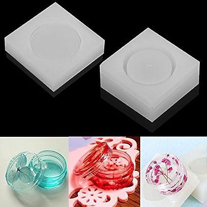 Epoxy Jewellery Round Storage Box Mold Resin Making Mould Casting Crafts DIY