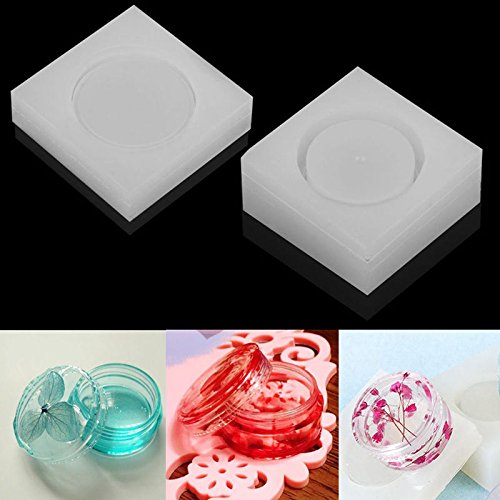 WXLAA 2PCS Silicon Resin Casting Storage Box Mold Jewelry Mould DIY Craft Making