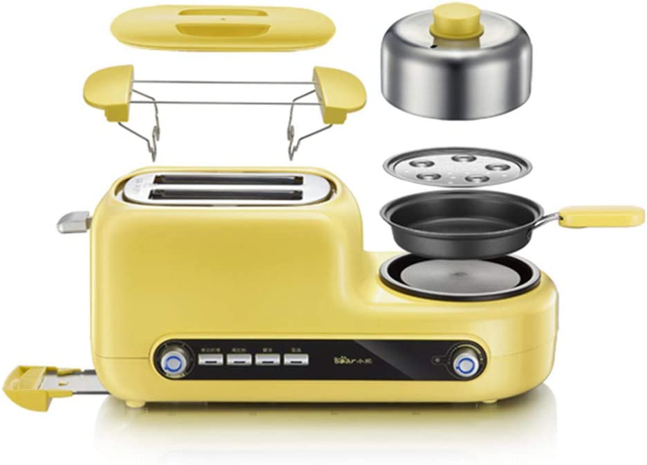 Multifunctional Stainless Steel Mini Breakfast Makers Six Heat Levels Portable Bread Toaster Pancake Maker Eggs Steamer