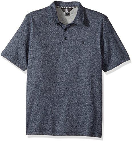 (Volcom M Wowzer Modern Fit Cotton Polo, Indigo, Big Boys)
