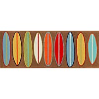 Area Rugs - Surfs Up Rug - 27 X 72 Runner - Colorful Surfboards Rug - Indoor Outdoor Rug