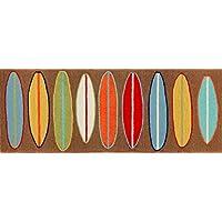 Area Rugs - Surfs Up Rug - 27 X 72 Runner - Colorful Surfboards Rug - Indoor Outdoor Rug
