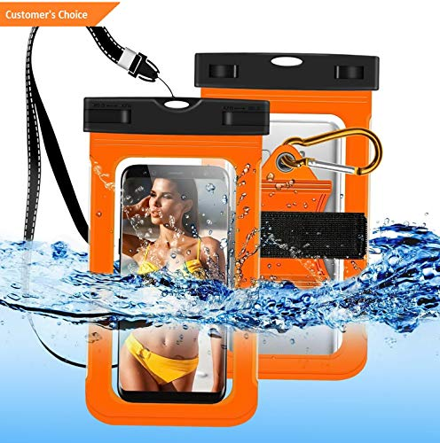(Werrox Under Waterproof Armband Pouch Dry Bag Phone Case Cover for Cell Phone Within 6 | Model FTNSSBG - 869 | Motorola Moto E4/ E4 Plus)