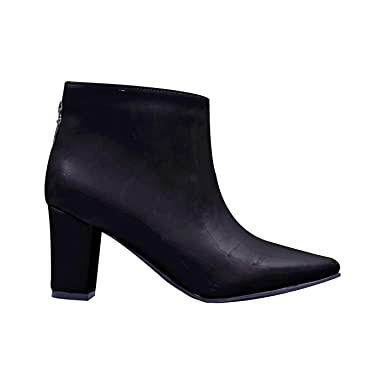 Amazon.com: MERCEDES CAMPUZANO 2646 Chunky Heel Ankle Boots For Women | Botines Para Mujer: Clothing