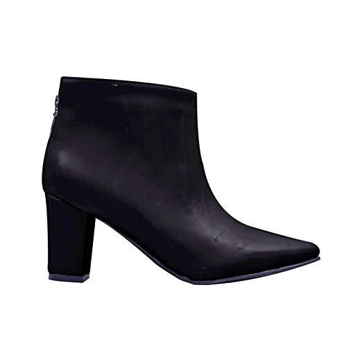 MERCEDES CAMPUZANO 2646 Chunky Heel Ankle Boots For Women | Botines Para Mujer