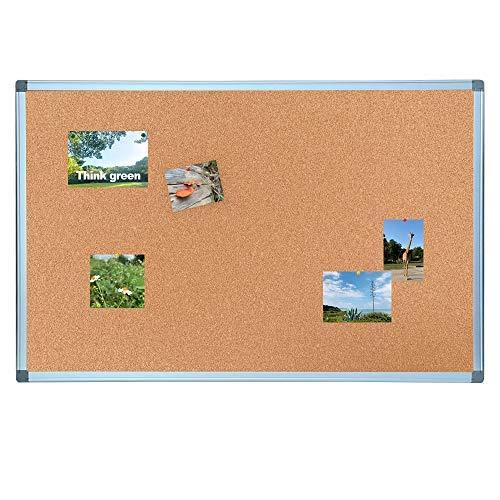 (BESTBOARD Cork Bulletin Board, Heavy Duty Corkboard for Homes or Offices, 24 x 36 inch, Silver Aluminum Frame)
