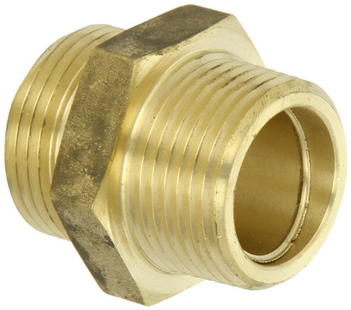 Moon 358-1061011 Brass Fire Hose Adapter, Nipple, 1