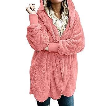 Beladla abrigo Mujer Invierno Mujeres Abrigo CáLido con Cremallera Oblicua Sudadera Hoodie De Gran TamañO Chaqueta para El Jersey Tops