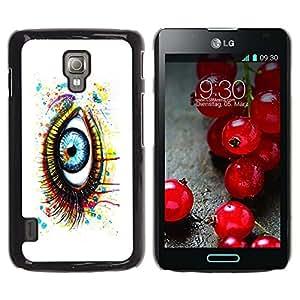 LECELL -- Funda protectora / Cubierta / Piel For LG Optimus L7 II P710 / L7X P714 -- Painted Eye --
