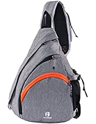 Flyone Hiking Daypack Sling Bag Travel Backpack for Men & Women Waterproof Lightweight Canvas Daypack