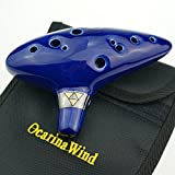 OcarinaWind 12 Hole Ocarina From Legend of Zelda Alto C Dark Blue