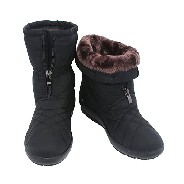 Youlym Womens Waterproof Warm Winter Snow Boots Wide Calf Anti Slip