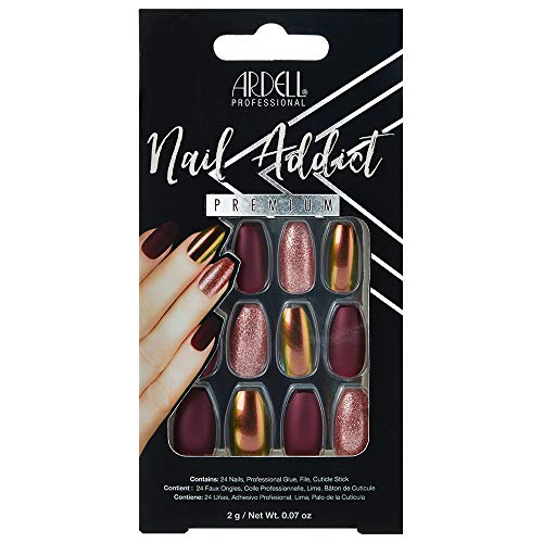 Ardell Nail Addict Premium Artificial Nail Set, Red Cateye