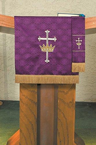 Maltese Jacquard Pulpit Scarf: Purple
