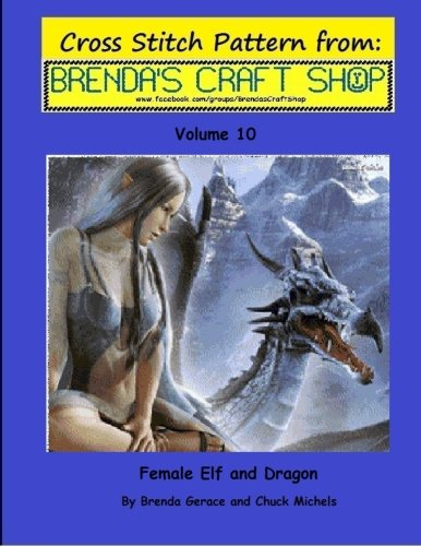 Female Elf and Dragon Cross Stitch Pattern: from Brenda's Cr