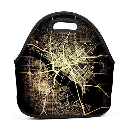 WWQE-B City Light Maps Dallas Economy Lunch Bag