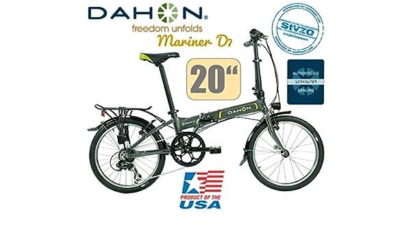 Dahon Mariner D7 Uni 7 marchas Graphite/20/LED/Deluxe Set de luz: Amazon.es: Deportes y aire libre