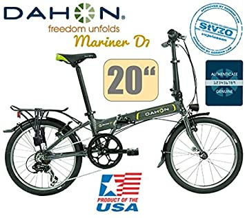 Dahon Mariner D7 Uni 7 marchas Graphite/20/LED/Deluxe Set de luz