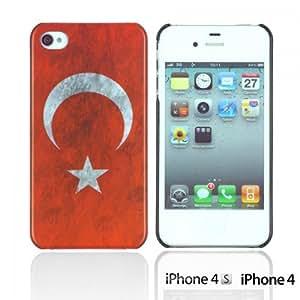 OnlineBestDigital - Vintage National Flag Hard Back Case for Apple iPhone 4S / Apple iPhone 4 - Turkey