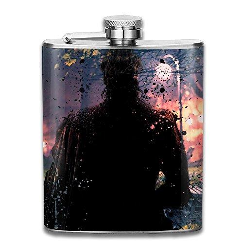JIUHUBX Dark Men Wallpaper Light Night Stainless Steel Liquor Flagon Retro Pocket Flask\Stainless Steel Travel Flask Great Little Gift,Safe And Nontoxic