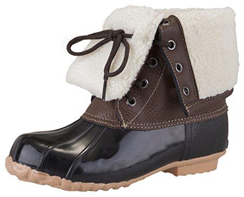 Khombu Women's Lynn Winter Boots (9 B(M) US, Brown/Black) (Grey Weather Lynn)