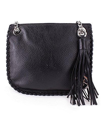 Michael Kors Black Whipped Chelsea Small Leather Messenger Bag - Michael Handbag Kors Chelsea