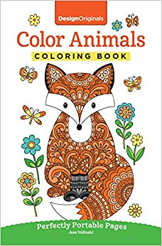 Color Animals Coloring Book Perfectly Portable Pages On The Go Design Originals