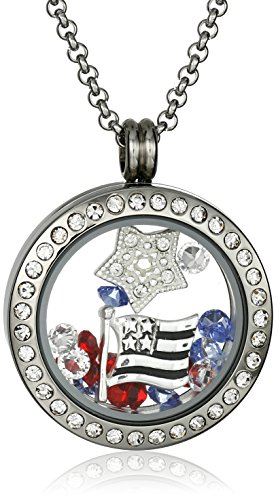 Charmed Swarovski Americana Floating Necklace