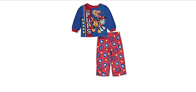 18b300423 Amazon.com  Nickelodeon Baby Boys  PAW Patrol 2-Piece Fleece Pajama ...