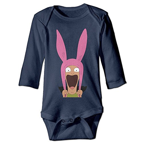 DELPT Bob's Burgers Funny Boy & Girl Infants Climb Jumpsuit 6 M Navy