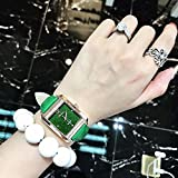 Generic Korean_style_of simple_waterproof_insert_drill_Square_ watch women _new_ fashion _trend_personality_atmospheric_ women girls _jacket_with_wrist watch es.