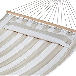 AmazonBasics Pillow Top Hammock, Grey and White