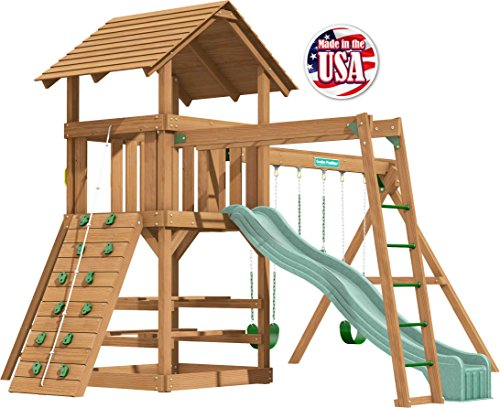 Creative Playthings (Classic Series) Clayton Pack 4 Swing Set Made in The USA