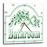 3dRose dpp_60564_1 Victorian Green Bathroom Sign Wall Clock, 10 by 10-Inch Review