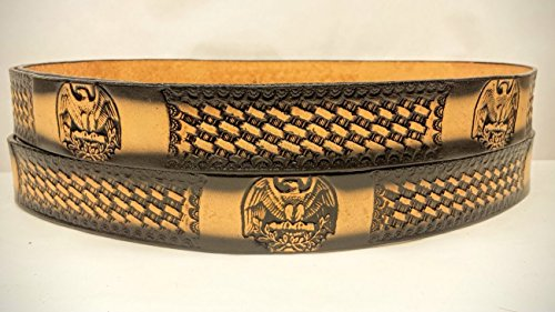 American Eagle Leather Belt (Leather Belts Embossed American Eagle Design 1 1/2