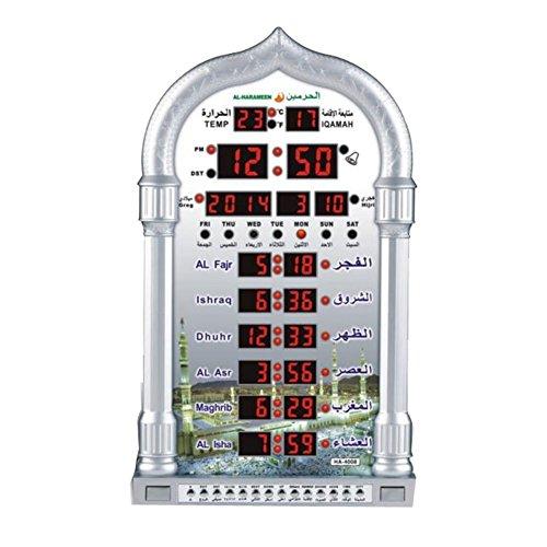 YUPENGDA Automatic Azan Wall Clock/islamic Azan Wall Clock/azan Wall Clock/automatic Muslim Prayer Azan Clock-ramadan Products/ramadan Gift (38823050mm(4008))