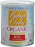 Babys Only Soy Organic Toddler Formula, Iron Fortified, 12.7-Ounce Canisters (Pack of 3)