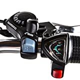 """Nakto 26"""" 250W Cargo-Electric Bicycle 6 speed e-Bike 36V Lithium Battery Aadult/Young Adult-Women (Black)"""